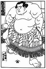 Coloring Culture Sumo Wrestler Japanese Pages Printable Books sketch template