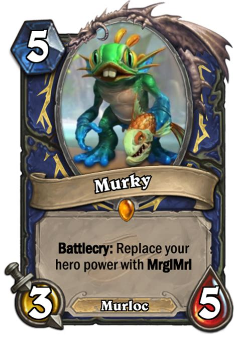 hearthstone shaman murloc deck legend custom shaman murloc legendary fan creations