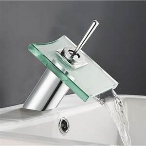 Robinet Lavabo Cascade : mitigeur de lavabo cascade chrom brillant cristali ~ Edinachiropracticcenter.com Idées de Décoration