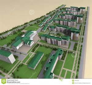 house layout generator model of modern city layout royalty free stock photo