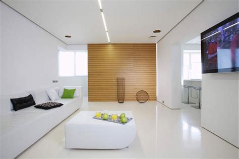 A Simple, Modern Apartment In Moscow : Minimalist Apartment Design In Moscow Spiced Up With Bold