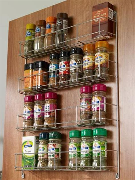 spice jar rack  tier  suit mm wide cabinet door