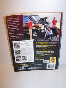 Haynes Chevrolet  Gmc Full Size Van Repair Manual  1968 To