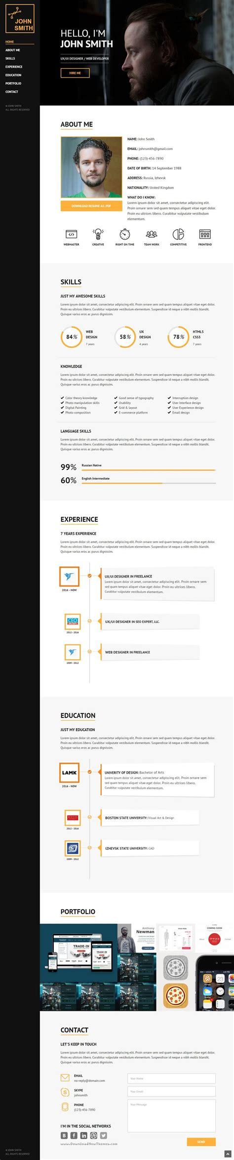 best 25 web designer resume ideas on