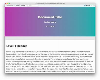 Theme Rmarkdown Themes Markdown Package