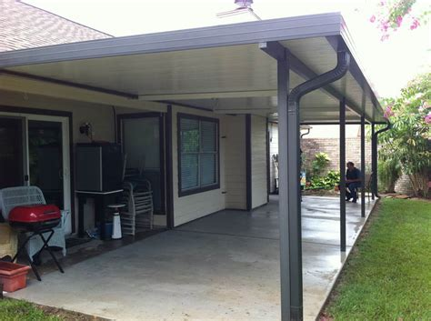 metal patio covers aluminum patio cover with fan beams in clear lake 187 a 1