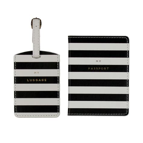 Ideas For Graveside Decorations by Designer Luggage Tag And Passport Holder Set Black And