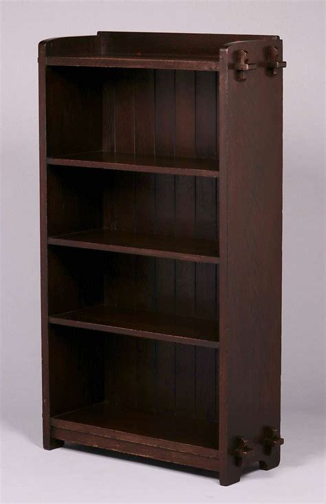 ljg stickley open bookcase   california