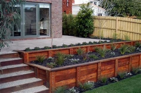 home retaining wall ideas beautifying your landscape using wooden retaining walls wooden retaining walls ideas home
