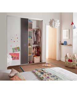 Cheapest Place To Buy Wardrobes by Buy Chalkboard Magnetic Sliding Wardrobe Door Basix