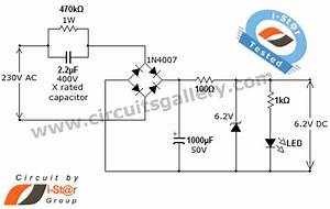 Transformer Less Ac To Dc Power Supply Circuit Using