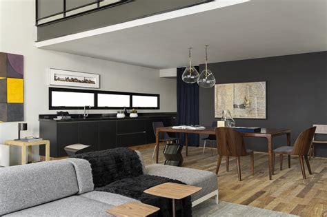 Contemporary Style : Modern Industrial Interior Design In Beautiful Open