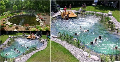 magical outdoor diy     natural swimming pond