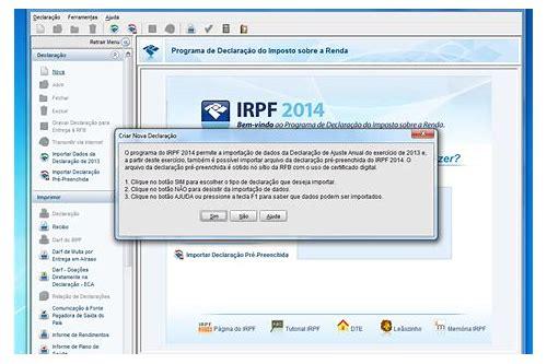 baixar programa irpf 2014 para retificação