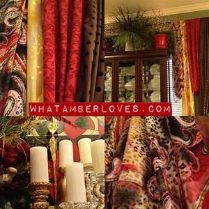 Gypsy? Hippie? SCARF CURTAINS!! what AMBER loves