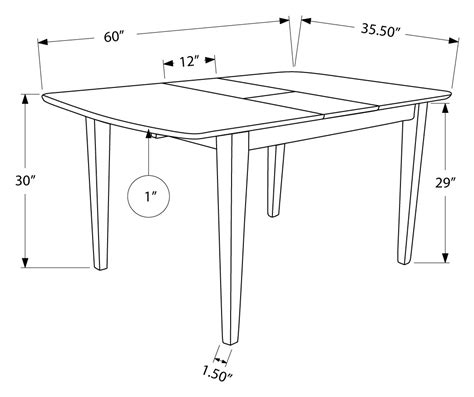 36 X 48 Dining Table With Leaf by Dining Table 36 Quot X 48 Quot X 60 Quot Cappuccino With A Leaf