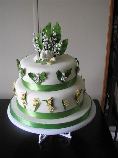 lily   valley wedding cake cakecentralcom