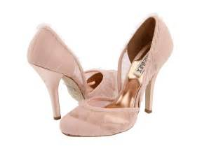 pink wedding shoes blush pink bridal heels with sheer lace overlay and ruffled edges onewed