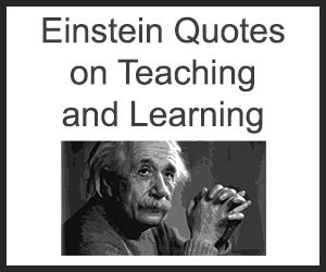 einstein quotes  teaching  learning