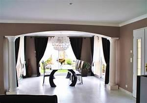 Idee Deco Peinture Salon : idee peinture salon salle a manger bordeaux design ~ Preciouscoupons.com Idées de Décoration