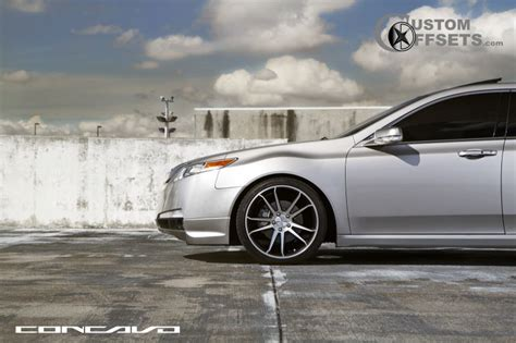 wheel offset 2010 acura tl flush dropped 1 3 custom rims