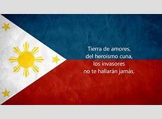 The Philippine National Anthem in Español,English