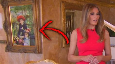 fake hues renoir painting  hangs  trump tower