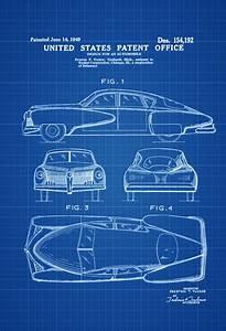 Tucker Automobile Patent  U2013 Patent Print  Wall Decor