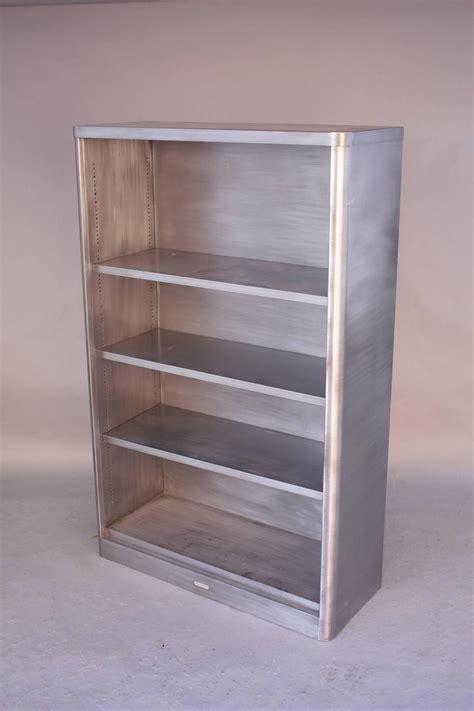 Vintage Industrial Bookcase by Vintage Industrial Midcentury Metal Bookcase At 1stdibs