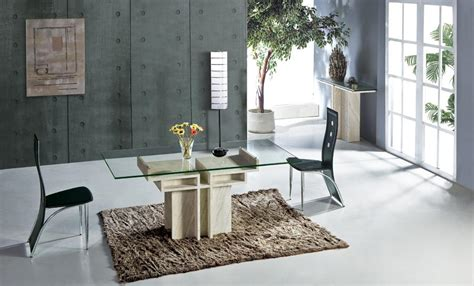 marble glass dining table white travertine dining table with glass table set natural