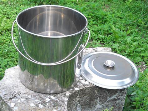 seau inox 12 litres avec couvercle qualit 233 alimentaire toilettes seches toilette seche wc