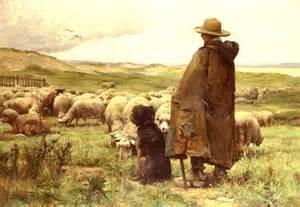 le berger et son chien julien dupr 233 peinture toile huile