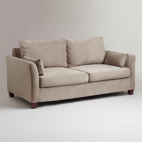 gray mink velvet luxe sofa slipcover world market