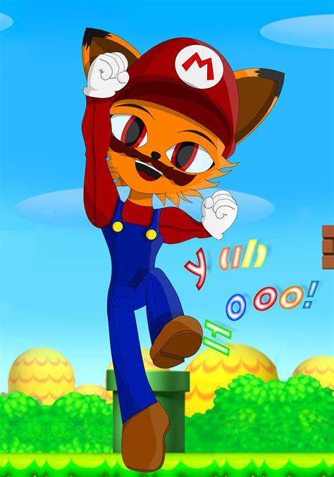 Melvin The Mustached Mario For The Matt By Me Sonic Fan