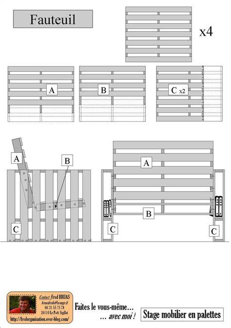 plan chaise de jardin en bois plan fauteuil en bois best mobilier de jardin en palette
