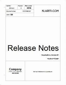 what are preview release notes instant download With software release notes template word