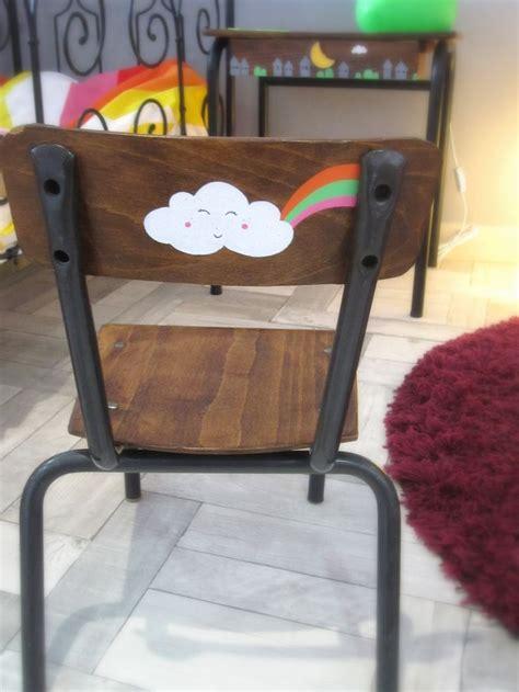 chaise écolier chaise écolier chaise enfant customisée 1 2 3 p 39 pois