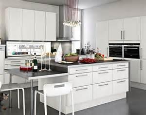kitchen ideas with islands vita kök med köksluckor köksö och sittplats blenda