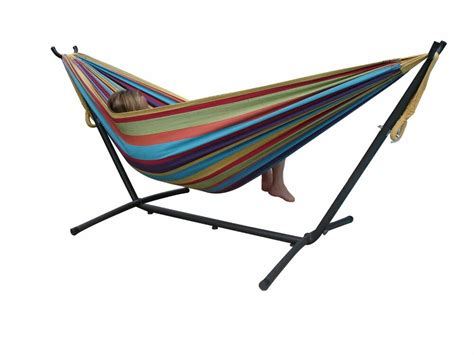 Hammocks With Stands by Portable Hammock With Space Saving Steel Stand Ebay
