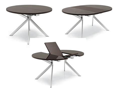 chaises salle manger design 738 table ronde à rallonge plaateau en verre 120 cm de