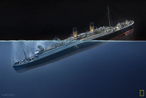 Titanic Sinking Animation National Geographic by Titanic 100 Years Kollected