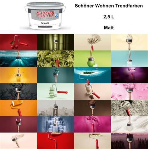Wandfarbe Schöner Wohnen by Sch 246 Ner Wohnen Trendfarbe Matt 2 5l Wandfarbe Farbwahl