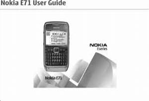 Nokia E71 User Guide Manual Download