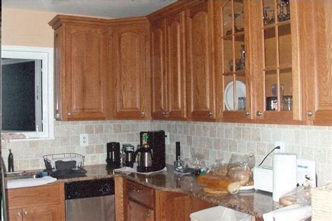 Kitchen Backsplash Pictures With Oak Cabinets by Kitchen Backsplash Oak Cabinets Home Design And Decor