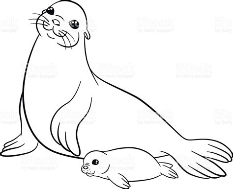 Seal Coloring Pages Printable New Jersey State Page