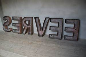 anton k fabulous collection of five xxl industrial With art deco metal letters