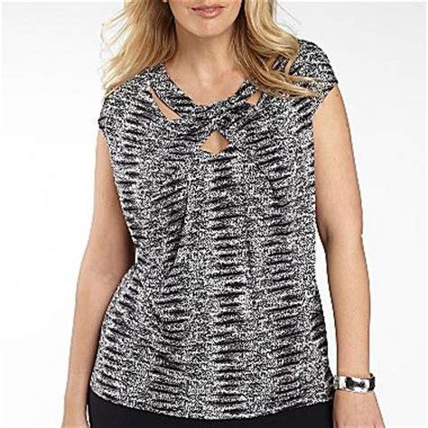 jcpenney plus size blouses worthington cutout twist neck top plus jcpenney if