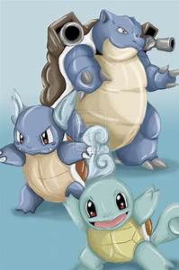 Squirtle Evolution by ItzAmandaYay on DeviantArt