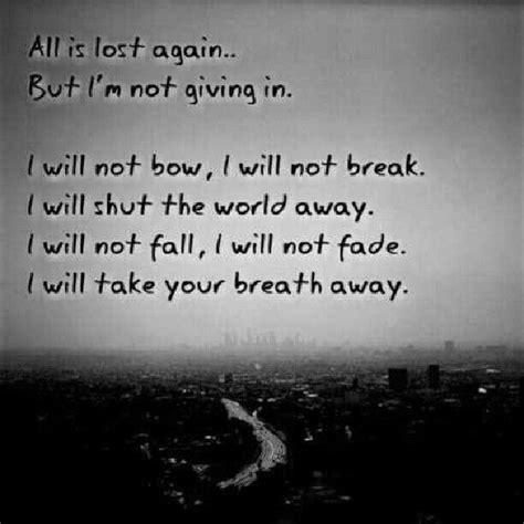 Breaking Benjamin Lyrics I Will Not Bow Bands