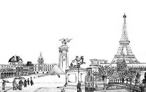Paris Black and White Drawings